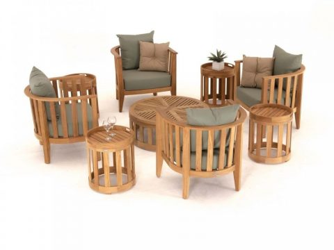 sofa ngoài trời gỗ tự nhiên