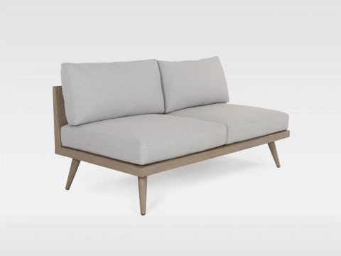 Teak Wood Base Outdoor Sofa 5 O