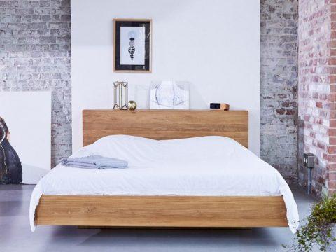 Zoom Flat Teak Bed 160x200 1720 22039