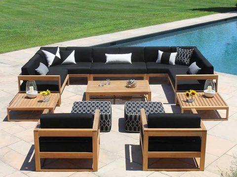 sofa gỗ tự nhiên bọc vải cao cấp